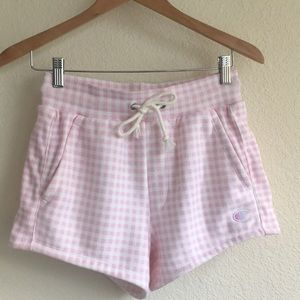 Champion X HVN reverse weave gingham short XS